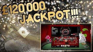 £120,000 JACKPOT!!!!! Live Roulette!!!
