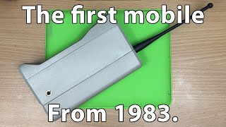 The first ever mobile phones.