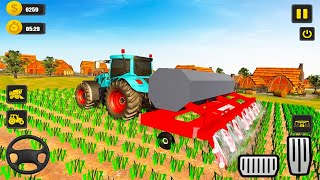 Harvester Tractor Farming Simulator 2021 - Farm Harvester Tractor Driving -   Android Gameplay