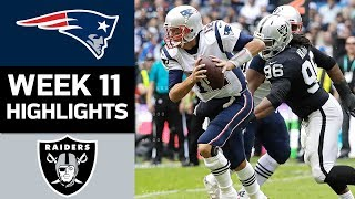 Patriots vs. Raiders | NFL Week 11 Game Highlights
