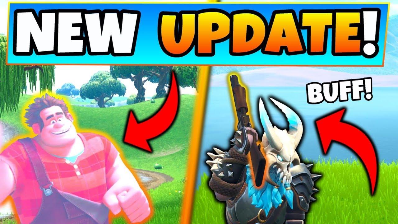 Fortnite Update Wreck It Ralph In Game Pump Shotgun Buff 6 New