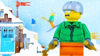 LEGO City Christmas Vacation Fail STOP MOTION LEGO Christmas Bad Luck | LEGO City | By Billy Bricks