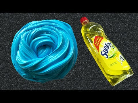 Fluffy slime with borax and glue no shaving cream