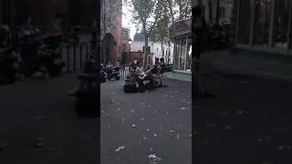 Street Music Jazz in Montmartre, Paris