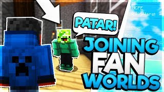 JOINING FANS WORLDS! 😱 - Minecraft PE (Pocket Edition)