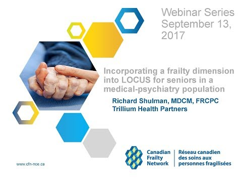 2017 09 13 Incorp. a frailty dimension into LOCUS for seniors in a medical psychiatry population