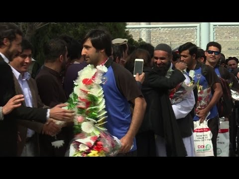 Cricket: Hero's welcome for Afghan team after historic win