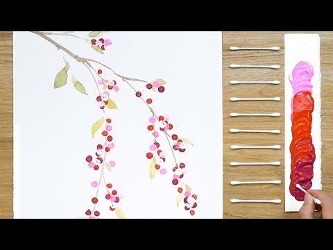 100 dots Art Painting Technique