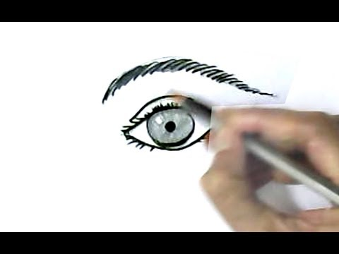 How To Draw A Realistic Eye And Eyebrow In Easy Steps Step By Step For Children Kids Beginners Youtube
