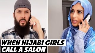 When Hijabi Girls Call A Salon #shorts