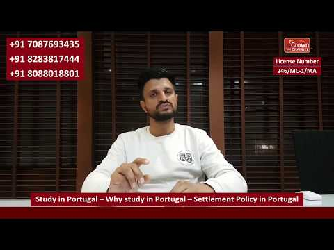 Study in Portugal – Why study in Portugal – Settlement Policy in Portugal #partimejobinportugal