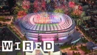 Fc barcelona is renovating the camp nou stadium for 21st century. we go inside redevelopment plans to see how new experience will help m...