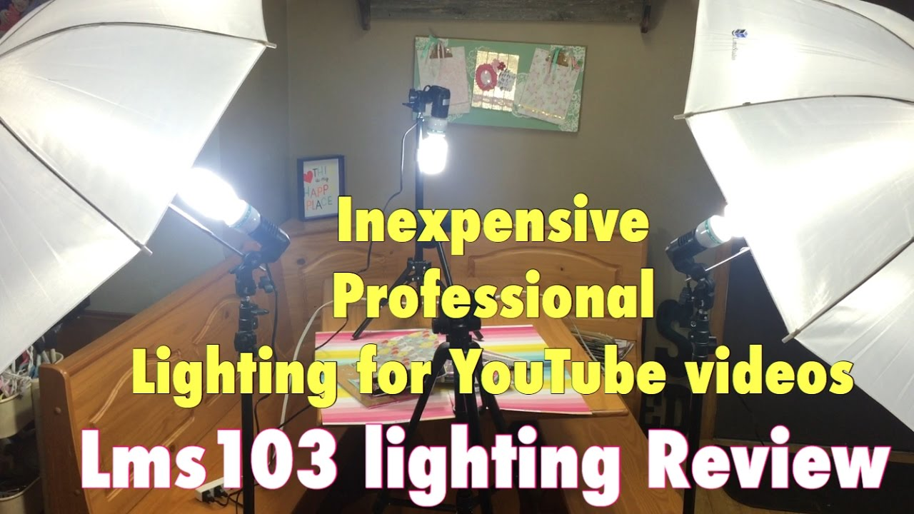 inexpensive lighting setup for youtube videos  lms limostudio  - inexpensive lighting setup for youtube videos  lms limostudio review w