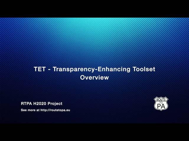 ROUTE-TO-PA project: TET overview