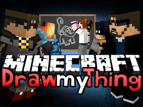 Minecraft DRAW MY THING!! BREAK EVERYTHING! (SkydoesMinecraft, Deadlox, And Friends)