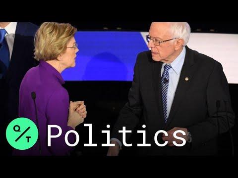 Elizabeth Warren Rejects Bernie Sanders' Handshake After Dem Debate
