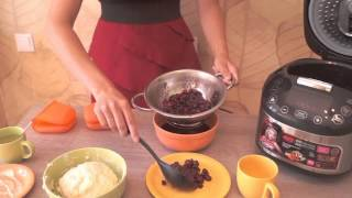 Вкусный творожный пирог с вишневым желе, пошаговый видео рецепт для мультиварки REDMOND