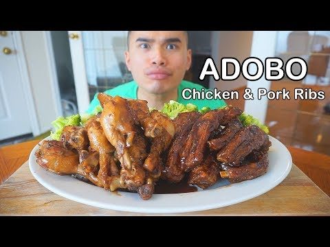 How to make CHICKEN & PORK RIBS ADOBO