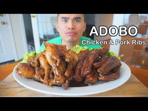 How to make CHICKEN & PORK RIBS ADOBO