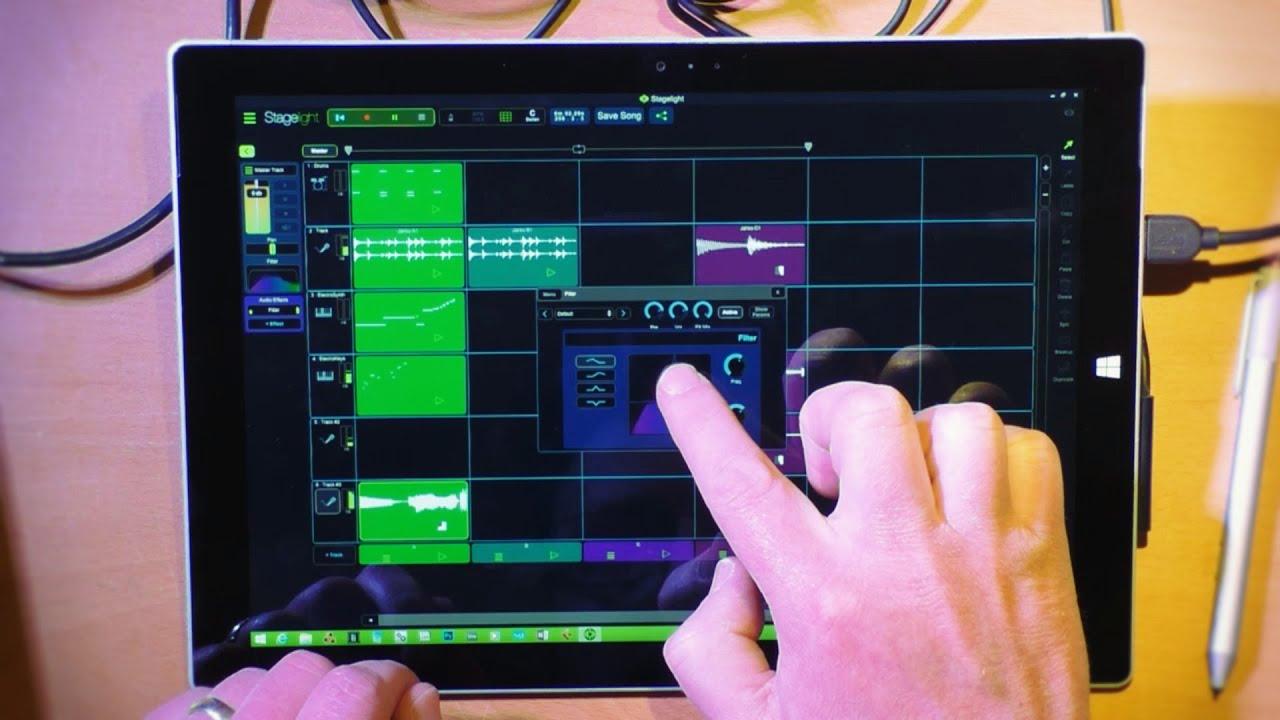 Open Labs Stagelight 2.1 Improvisation on the Surface Pro 3