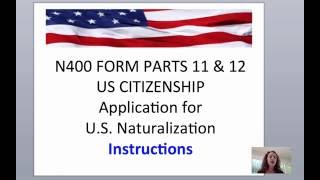 n400 parts 11 12 instructions