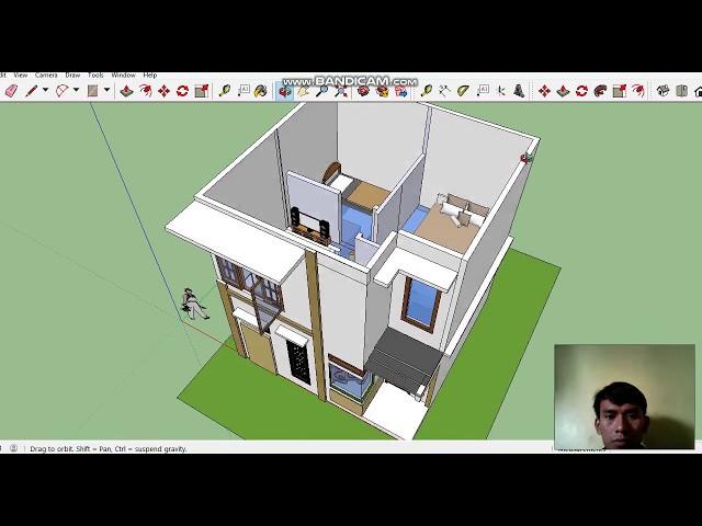 2 Kamar, 2 Lantai, 6X6 Meter. Desain Unik dan Simple