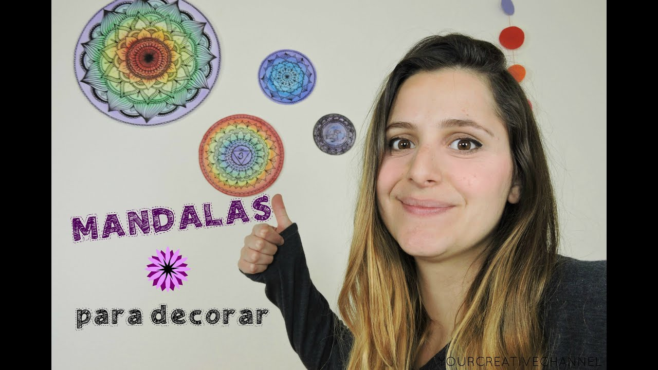 Como pintar mandala mandalas para decorar youtube for Disenos para decorar