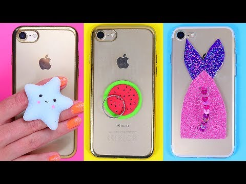 TOTALLY COOL DIY PHONE POPSOCKETS! How to make phone grisps