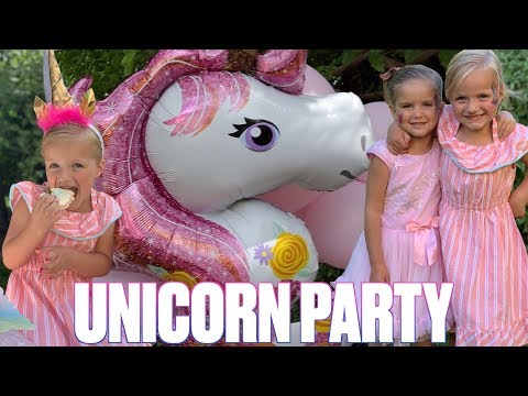 MAGICAL RAINBOW UNICORN THEMED BIRTHDAY PARTY