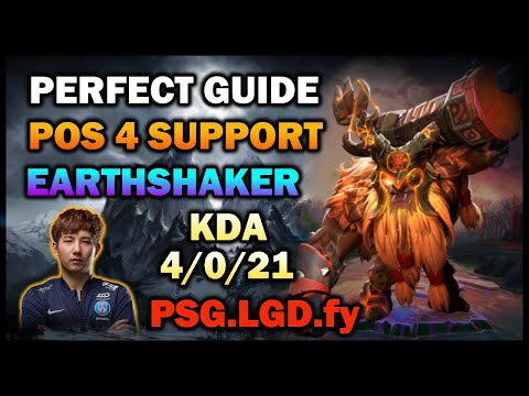 Perfect Guide To Learn How To Play Earthshaker Support Roaming Pos 4 | Fy Gameplay [DOTA 2 7.26c]
