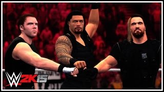 WWE 2K15 - The Shield Entrance, Finishers, Triple Powerbomb & Winning Scene!