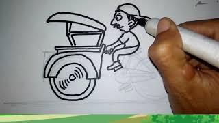Becak becak  lagu anak indonesia
