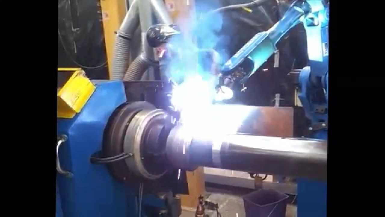 robotic mig mag welding for hydraulic cylinders body youtube. Black Bedroom Furniture Sets. Home Design Ideas