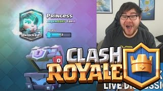 Clash Royale ★ PRINCESS ON A FREE SUPER MAGICAL CHEST! ★ Clash Royale Super Magical Chest Opening!