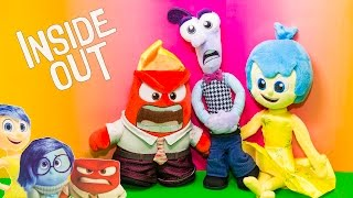 INSIDE OUT Disney Pixar Inside Out Plush Joy + Anger + Fear Inside Out Video Toy Review