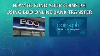 11 steps on how to fund your coins ph using bdo online banking