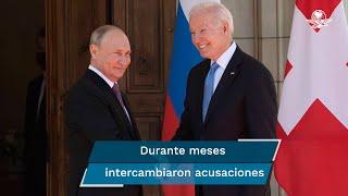 Tras una presentación ante las cámaras con expresiones sombrías, palabras corteses y un apretón de manos, los mandatarios de Rusia y Estados Unidos sostuvieron su encuentro bilateral