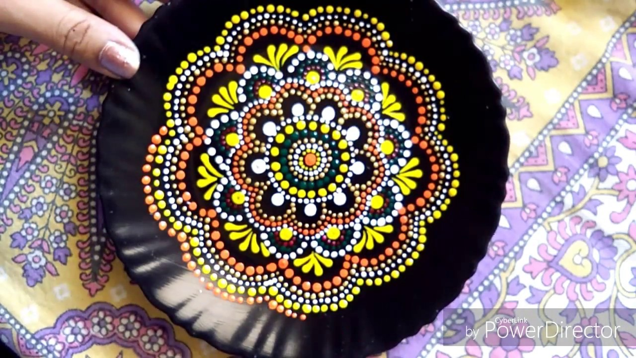 painting mandala on plate make decorative plate for your wall home rh youtube com paper plate painting ideas ceramic plate painting ideas