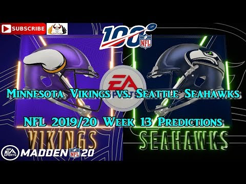 minnesota-vikings-vs.-seattle-seahawks- -nfl-2019-20-week-13- -predictions-madden-nfl-20