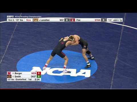 NCAA Wrestling 157lbs: Tyler Berger Nebraska vs Joe Smith Oklahoma State