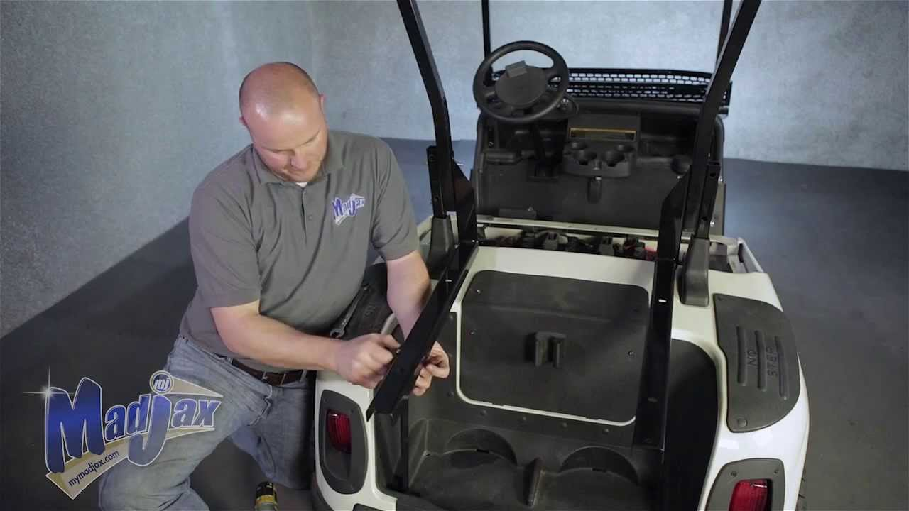 Cargo Box ckets will fit *E-Z-Go® *RXV® | How to Install Video | on ez go golf cart parts, custom ezgo golf cart accessories, ez go txt golf cart, ez go workhorse parts manual,