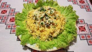 Салат рецепт с фасолью,ананасами,кукурузой и ветчиной просто и быстро рецепты салатов готовим дома