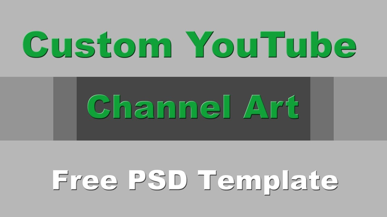 Customize YouTube One Channel - Change Your YouTube Channel Art ...