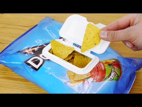 Reclosable Snacks or Chip Packet Life Hack