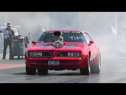 SUPERCHARGED PONTIAC TRANS AM 11.39 @ 122 MPH SYDNEY DRAGWAY 25.10.2015