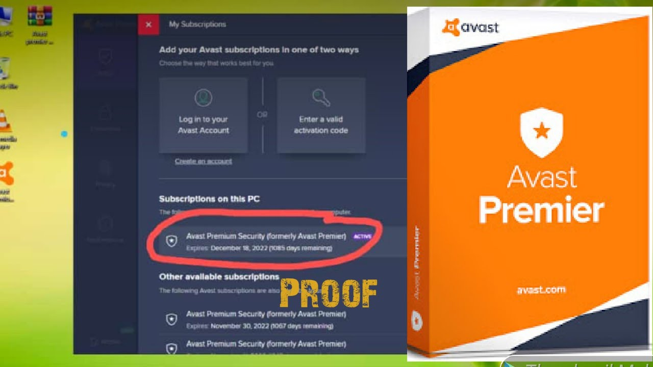 Avast Premier Antivirus With License Key Till 2022 (100% ...
