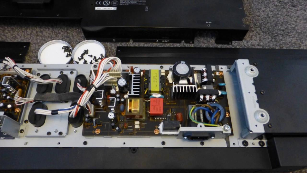 Yamaha ysp power fault repair youtube for Yamaha ysp 1000