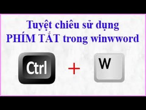 Tuyệt chiêu sử dụng phím tắt trong Winword (phần 1)