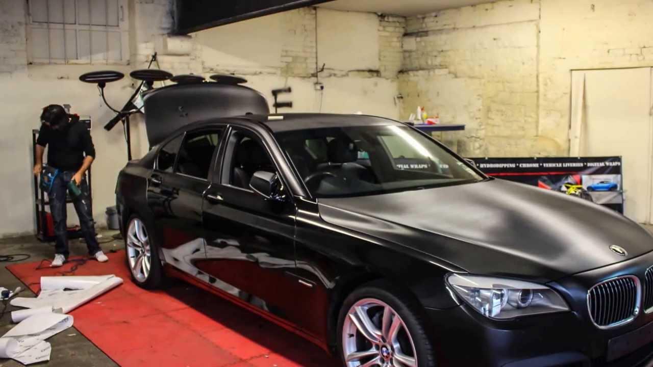 Bmw 535i 2008 >> BMW 7 Series 3M Satin Black Wrap G STARWRAPS - YouTube