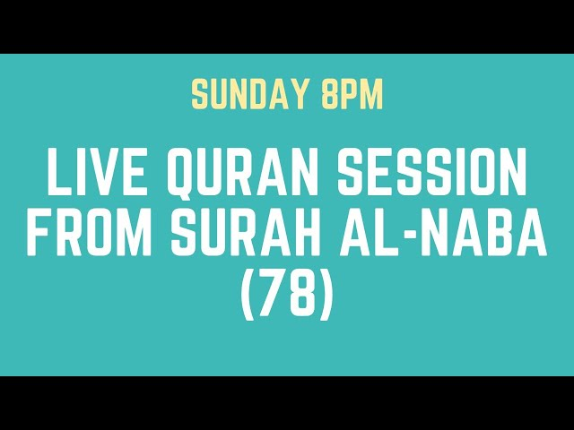 The Great Tiding: Surah al-Naba